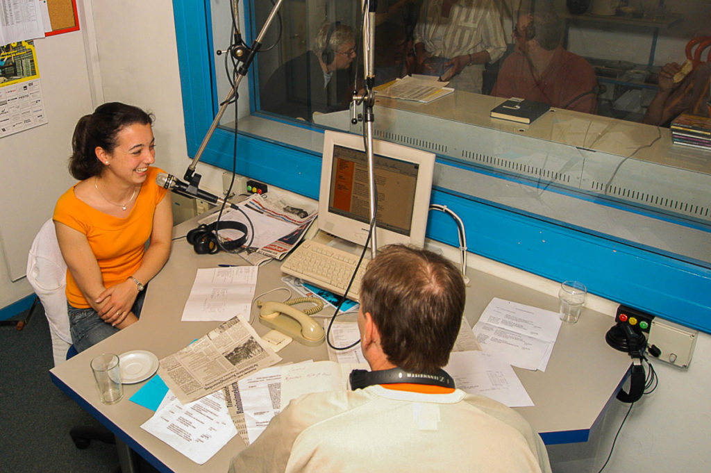 Foto van de radiostudio RAZO Delft