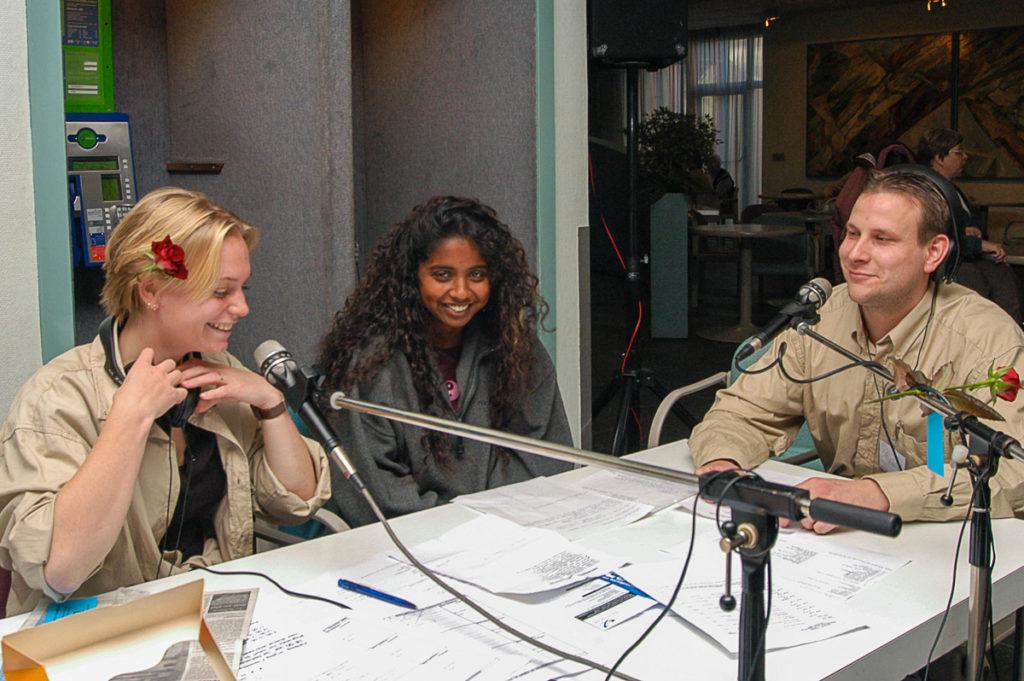 Foto van de mobile radio uitzending RAZO Delft