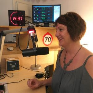 Maud Nagel in de studio van RAZO & Zorg