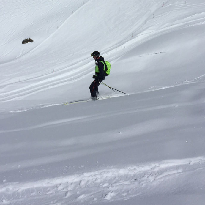 Skier op de helling